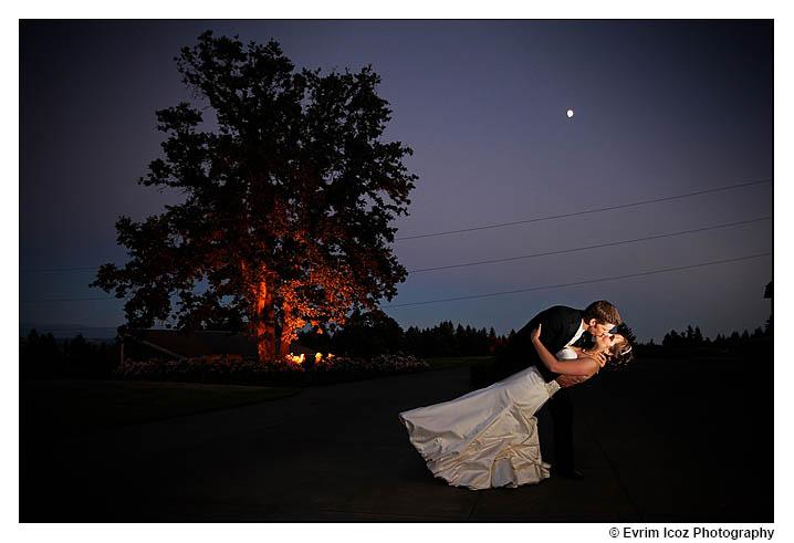 Wedding Dip under the moon