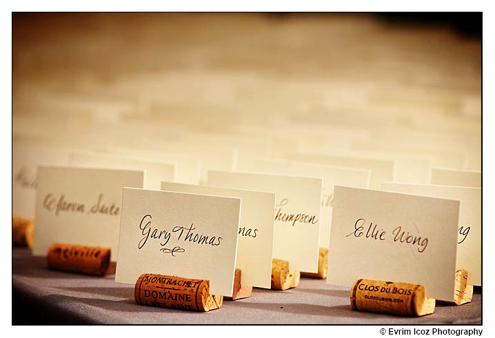 Great place card idea using corks