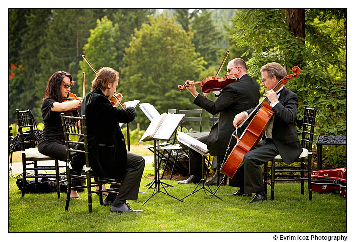 String Quartet at Oregon Vineyard wedding