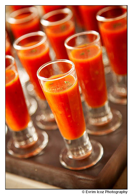 gazpacho wedding shot glass