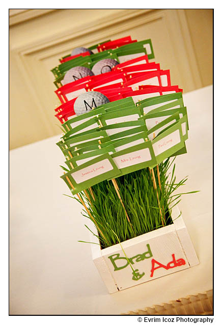 Golf Theme Wedding placecards