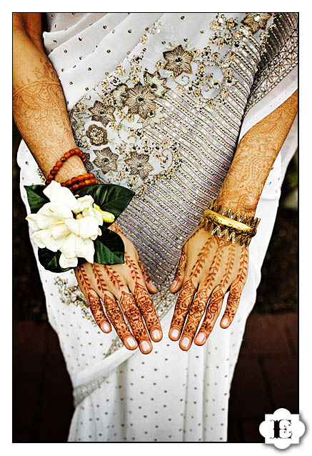 henna design on hand Seattle indian Wedding