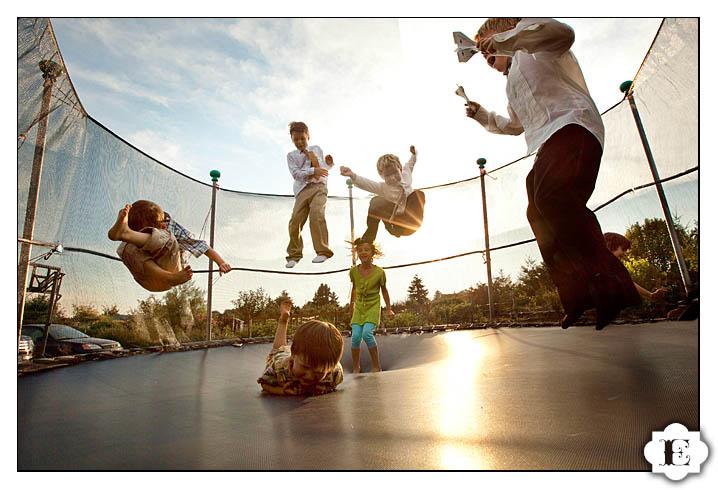Kids on trampoline portland oregon
