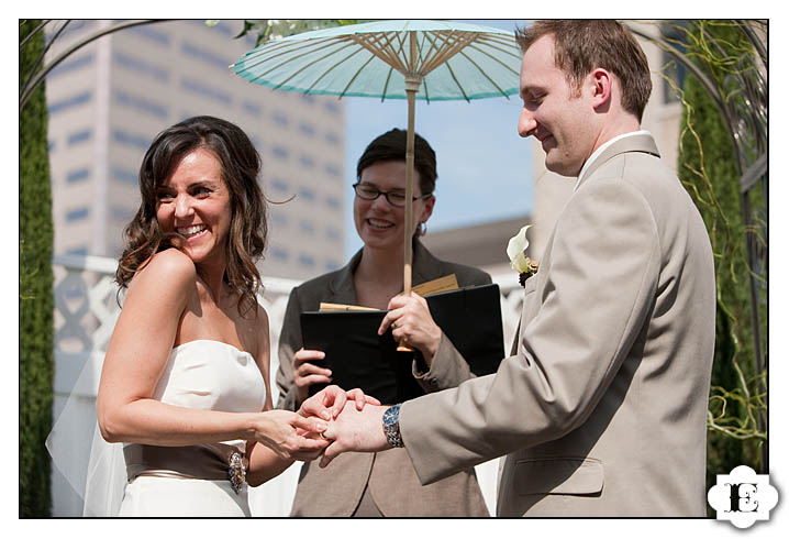 treasury ballroom rooftop wedding
