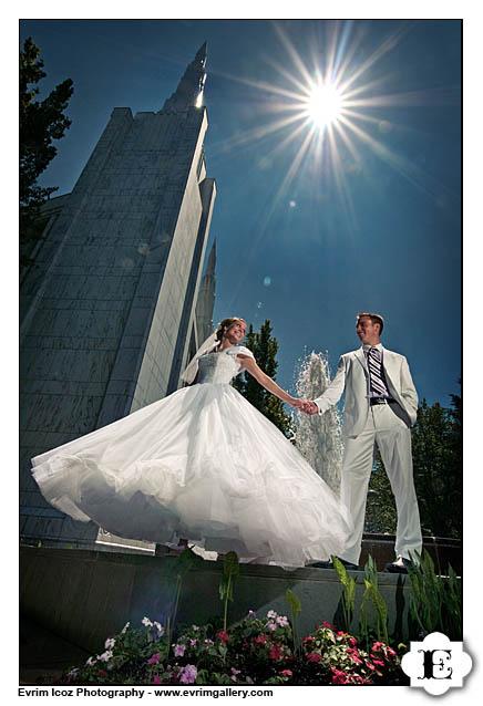 Portland lds mormon wedding for Wedding dresses in portland oregon