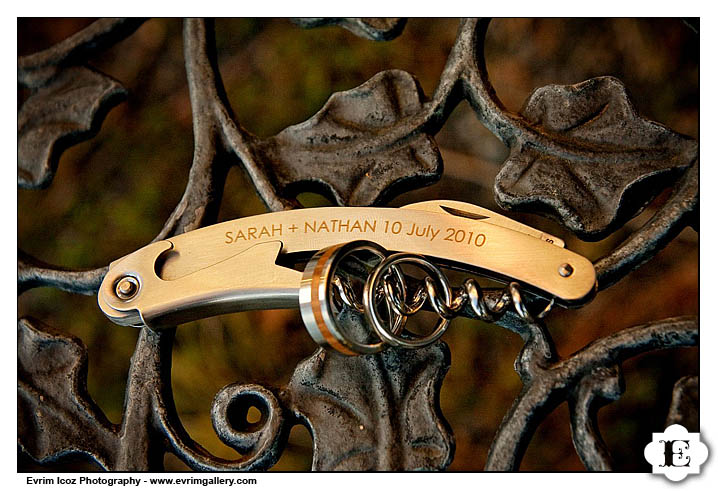 Waiter's wine opener wedding favor