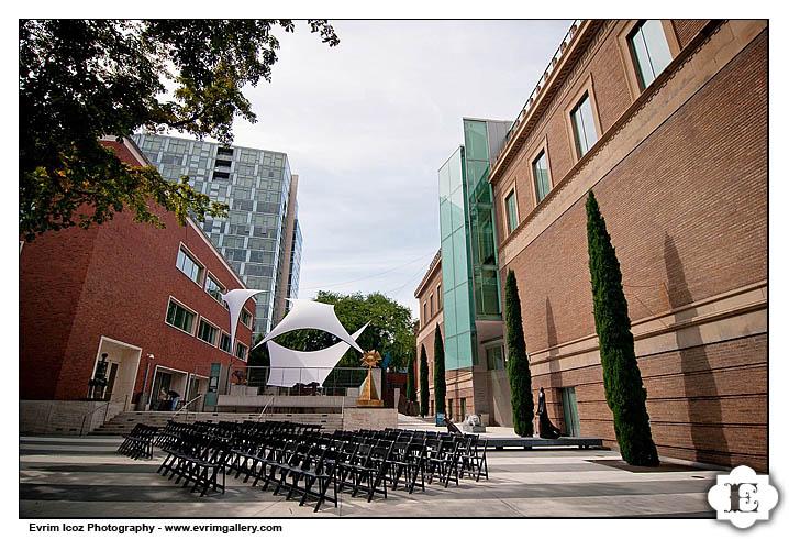 Portland Art Museum Sculputre Garden Wedding