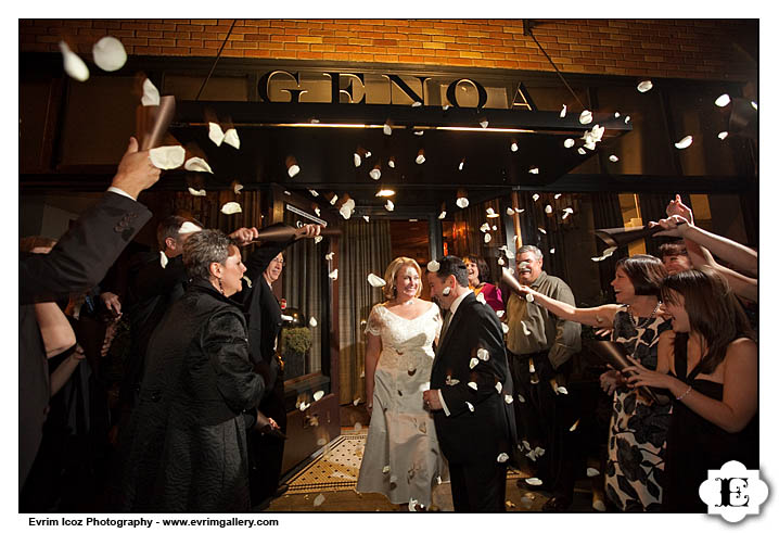 Wedding at the Genoa Restaurant in Portland Oregon