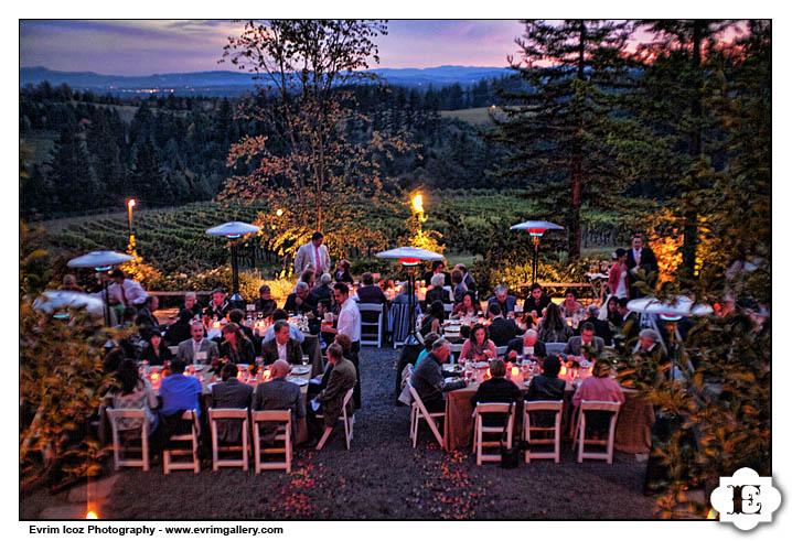 Fall Portland Oregon Vineyard Wedding