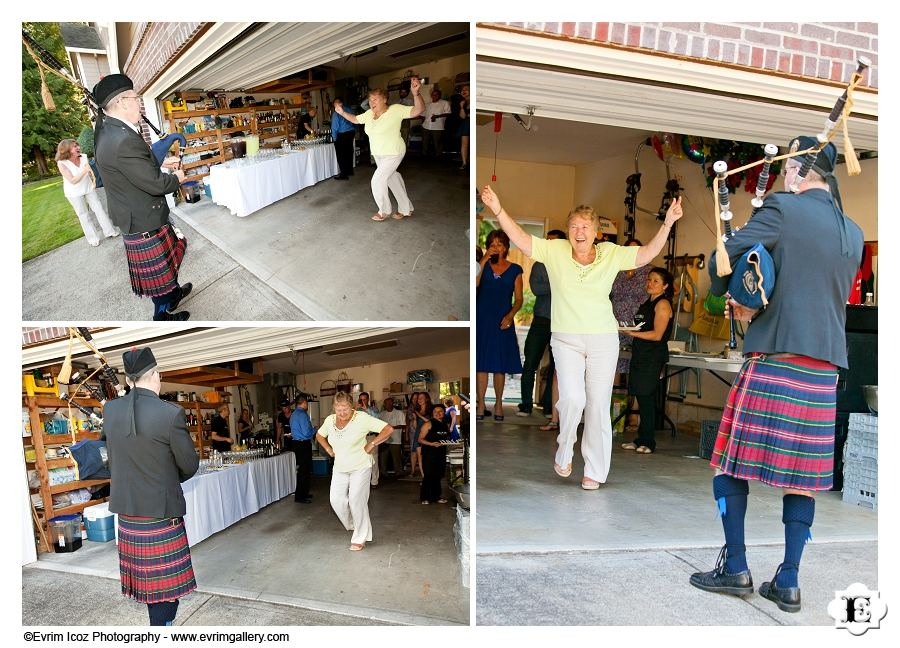 Scottish dancing and Bagpiper