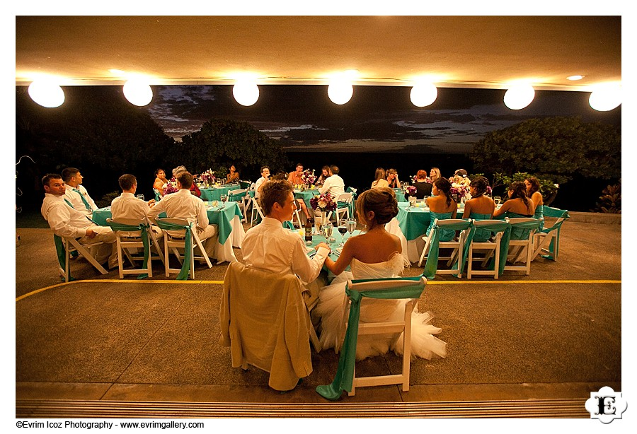 Maui wedding reception at Kukahiko Estate</p> <p>