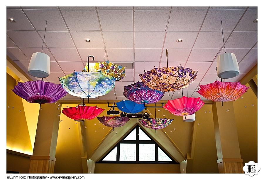 Umbrellas over the dance floor!