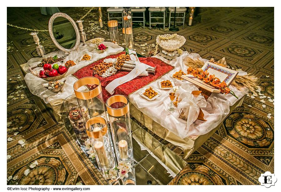 Sofreh at Portland Persian Wedding