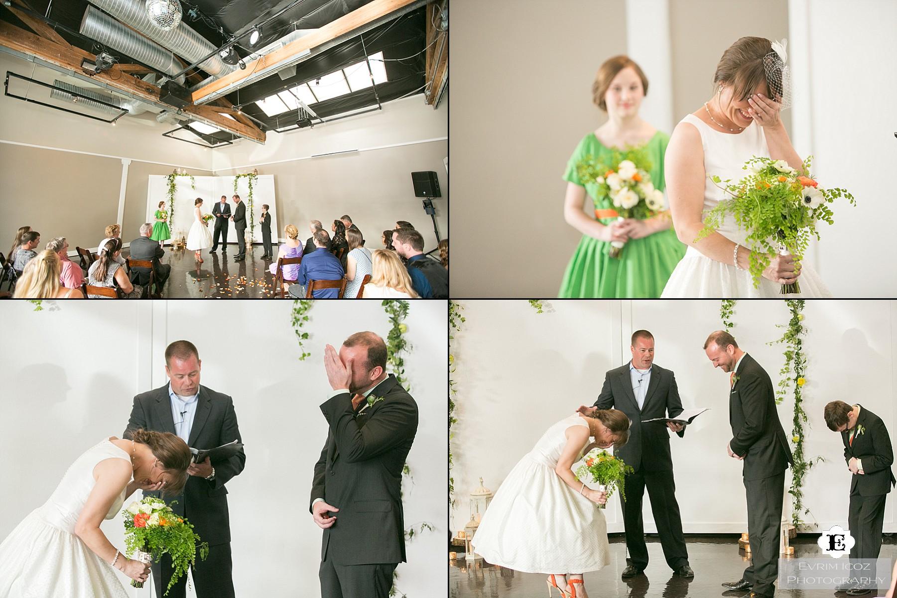 Urban Studio Wedding in Portland Oregon