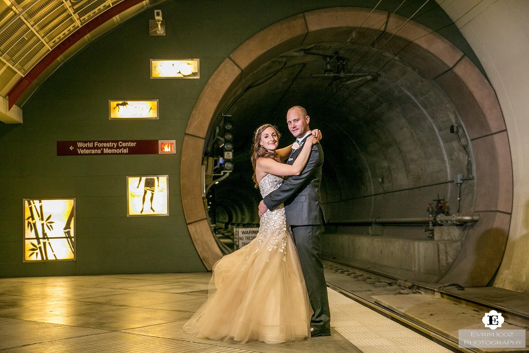 Portland MAX Train Wedding