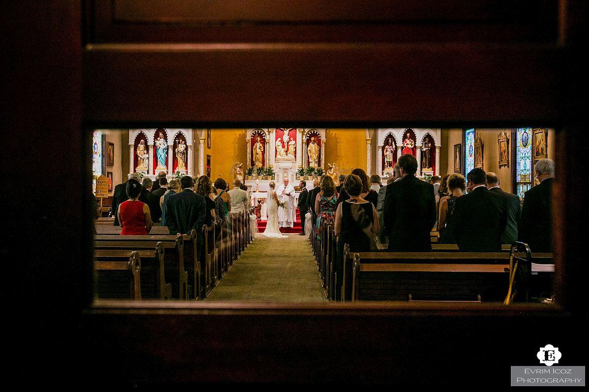 Wedding Ceremony at St Stanislaus Polish Church Portland