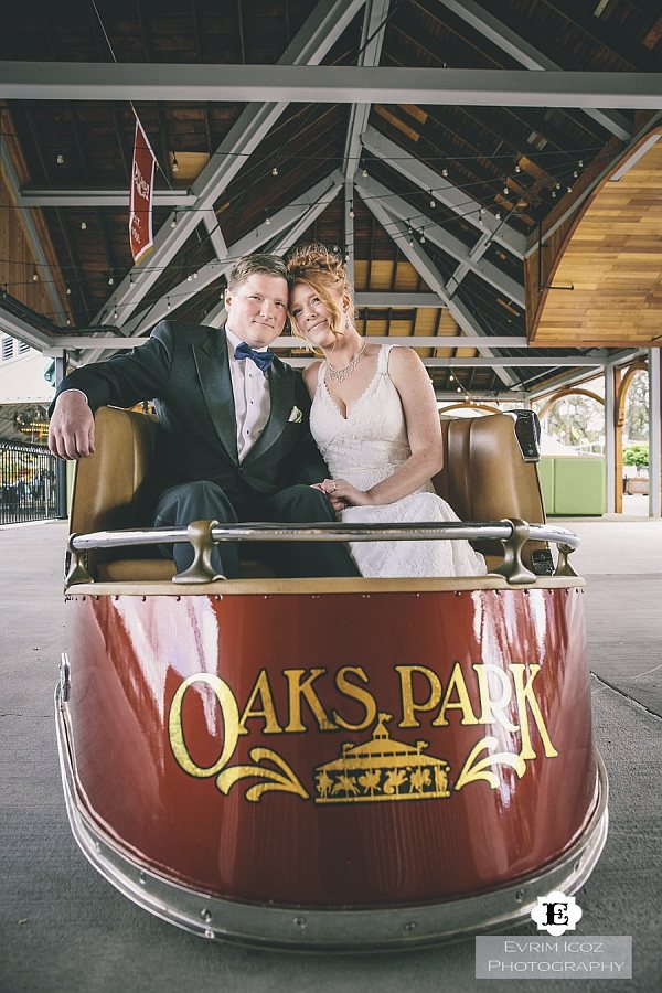 Oaks Park Dance Pavillion Wedding